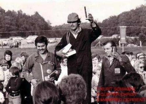 Siegerehehrung 1. Kurt Schwarz 2. Günter Christ 3. Manfred Corrent Quelle: Günter Christ