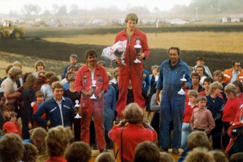 Siegerehrung Varelbusch 1982 2. Eckel 3. Klocke Quelle: Wilfr. Huismann